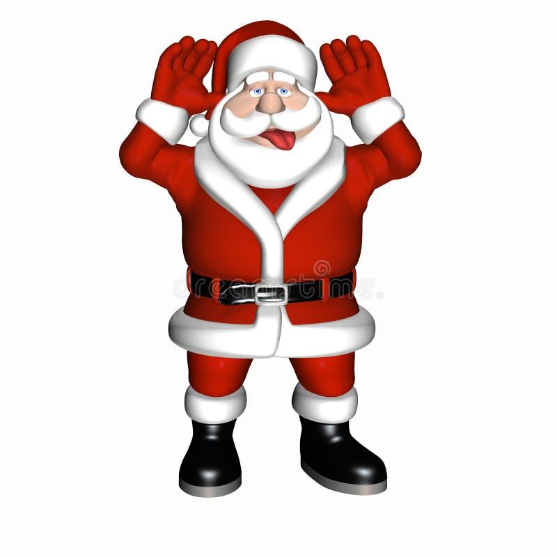 Kerstman die een Framboos 1 geven royalty-vrije illustratie