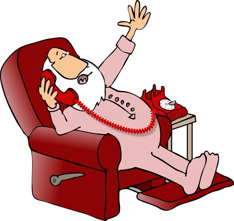 Kerstman die zaken spreken royalty-vrije illustratie