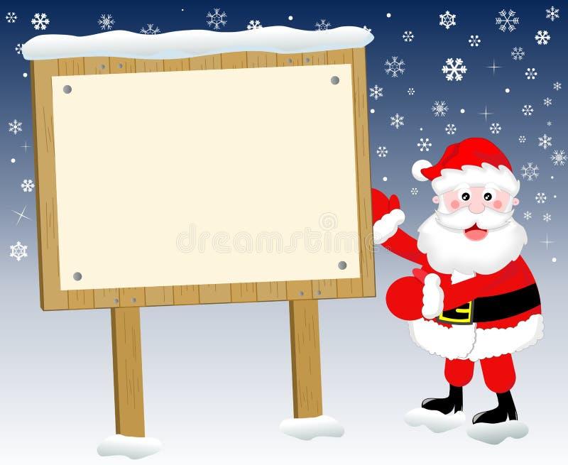 Kerstman en het teken van Kerstmis vector illustratie