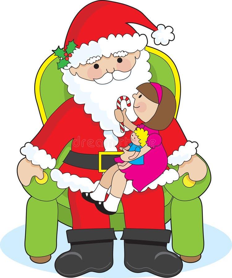 Kerstman en Kind stock illustratie