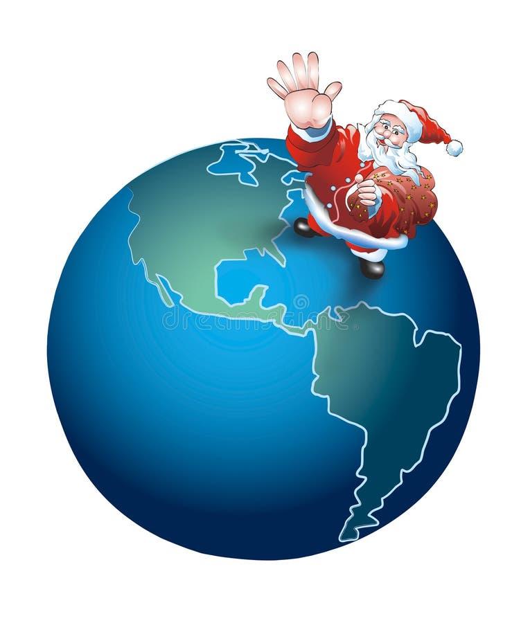 Kerstman Globale 2 royalty-vrije illustratie