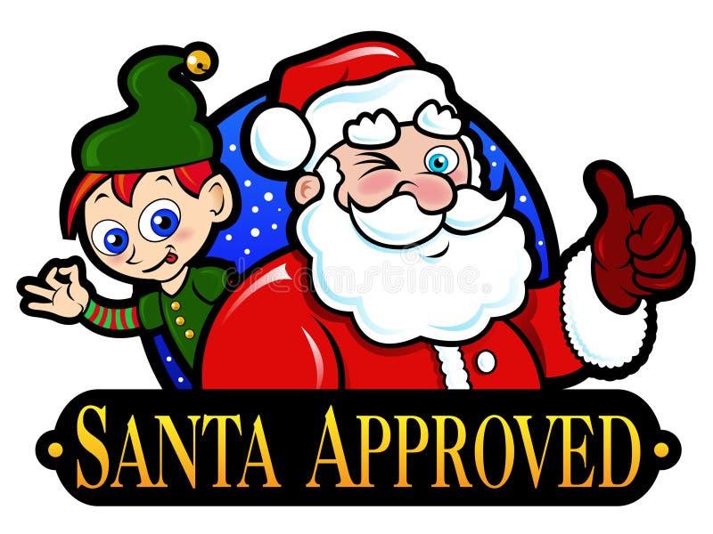 Kerstman Goedgekeurde Verbinding vector illustratie