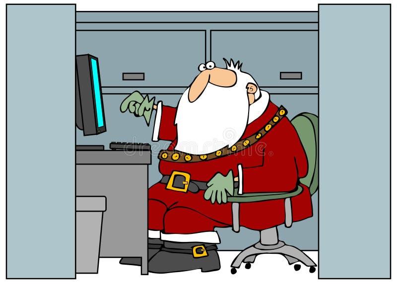 Kerstman in het Bureau vector illustratie