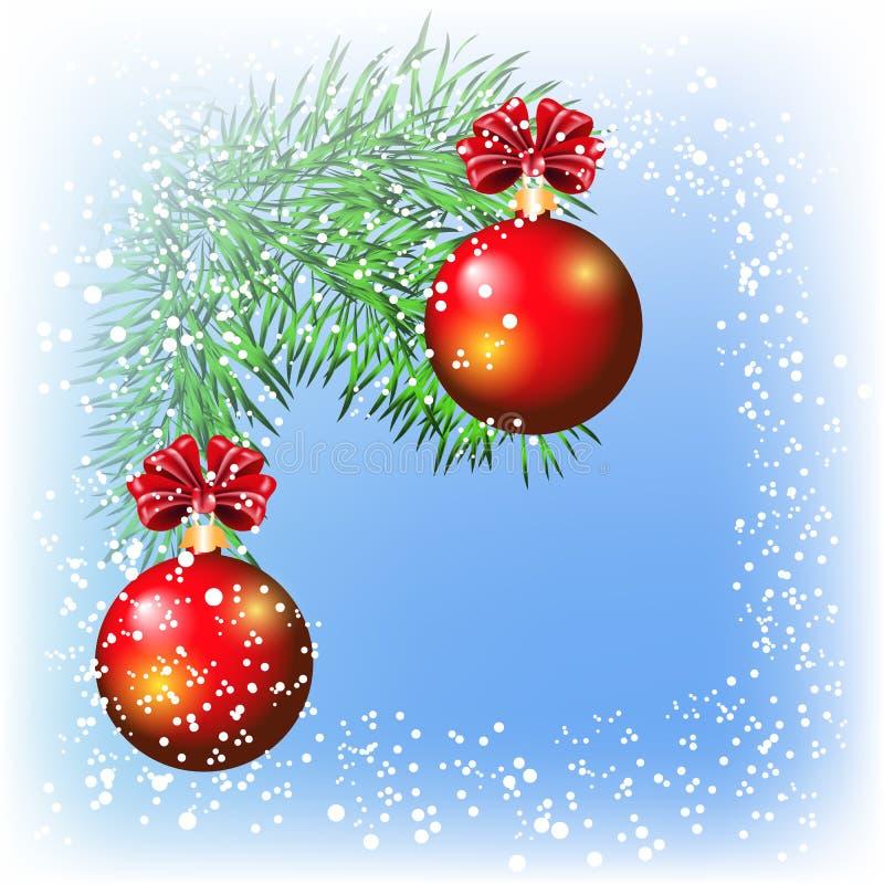 Kerstman Klaus, hemel, vorst, zak royalty-vrije illustratie