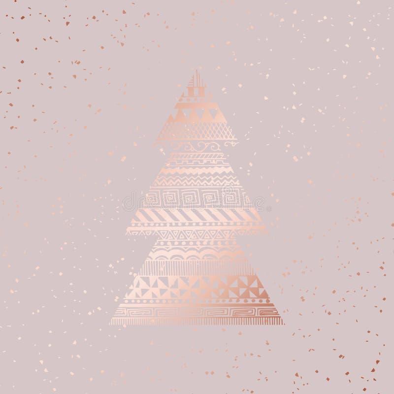 Kerstman Klaus, hemel, vorst, zak Nam goud toe Vector illustratie stock illustratie