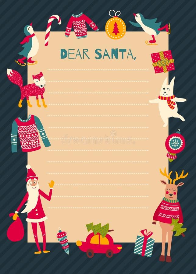 Kerstman letter1 vector illustratie