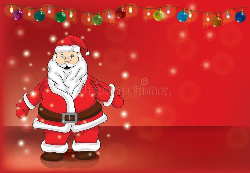 Kerstman magische omhelzing royalty-vrije stock afbeeldingen