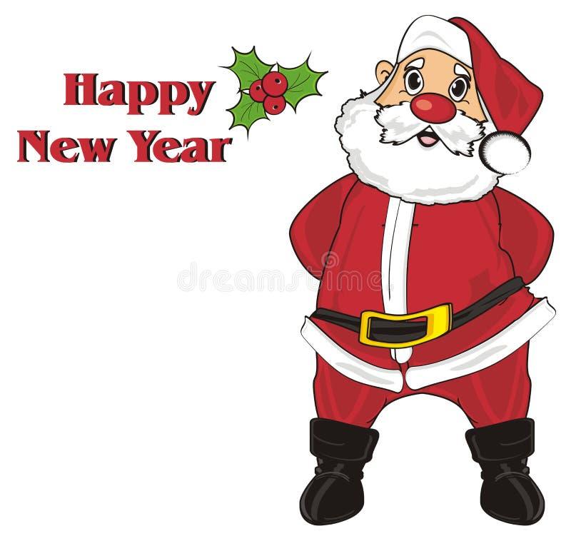 Kerstman met woorden stock illustratie