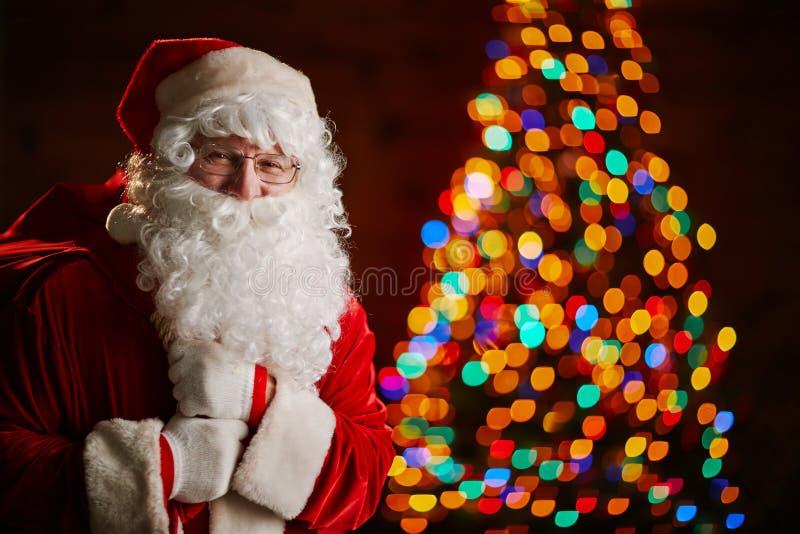 Kerstman met zak royalty-vrije stock foto's