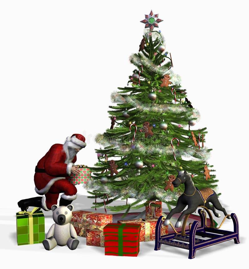 Kerstman op het Werk royalty-vrije illustratie