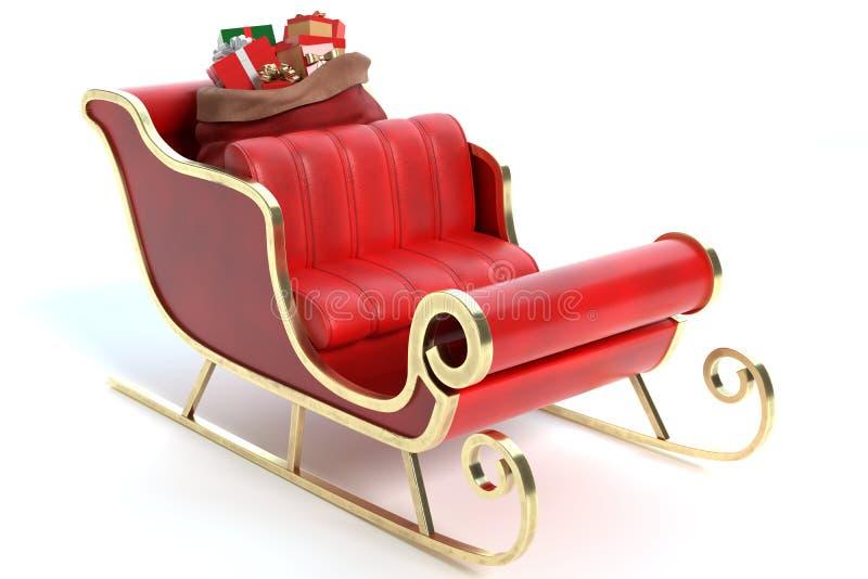 Kerstmanar met Giften stock afbeelding