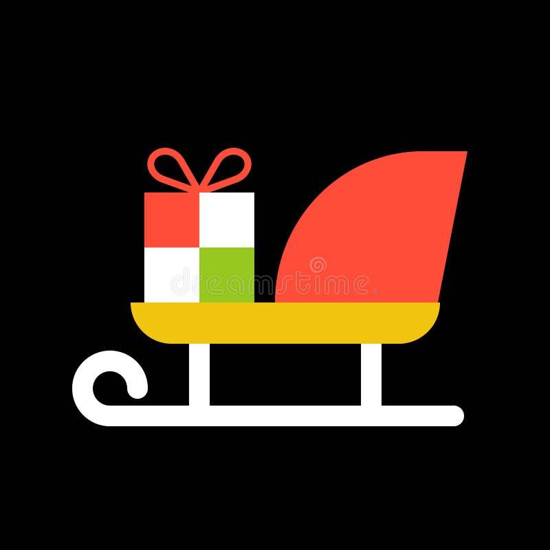 Kerstmanar, Vrolijke Kerstmis gevulde pictogramreeks royalty-vrije illustratie