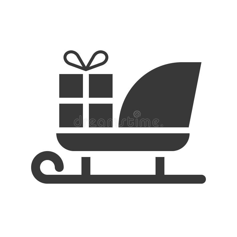 Kerstmanar, Vrolijke Kerstmis gevulde pictogramreeks vector illustratie