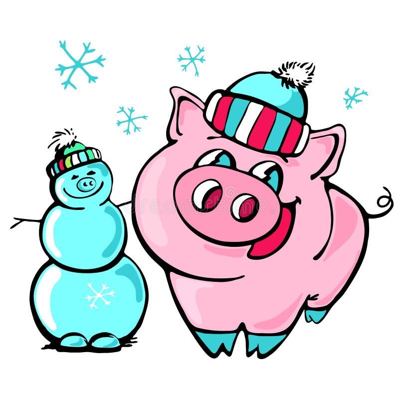 Kerstmanbeeldverhaal, viering, vrolijke Kerstmis, kinderen, ontwerp, vriendschap van het de kalendernieuwjaar van China de Chines royalty-vrije illustratie