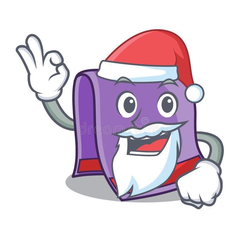 Kerstmanhanddoek voor badmascotte royalty-vrije illustratie