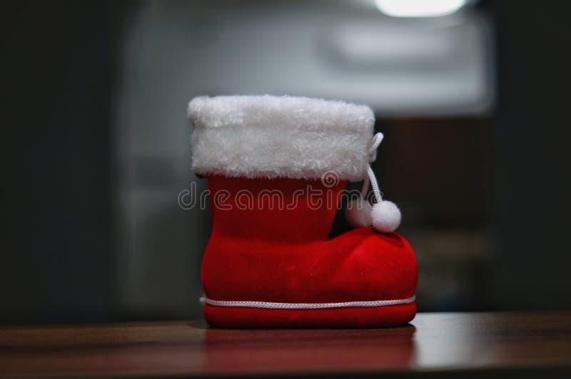 Kerstmanlaars met onscherpe achtergrond stock afbeelding
