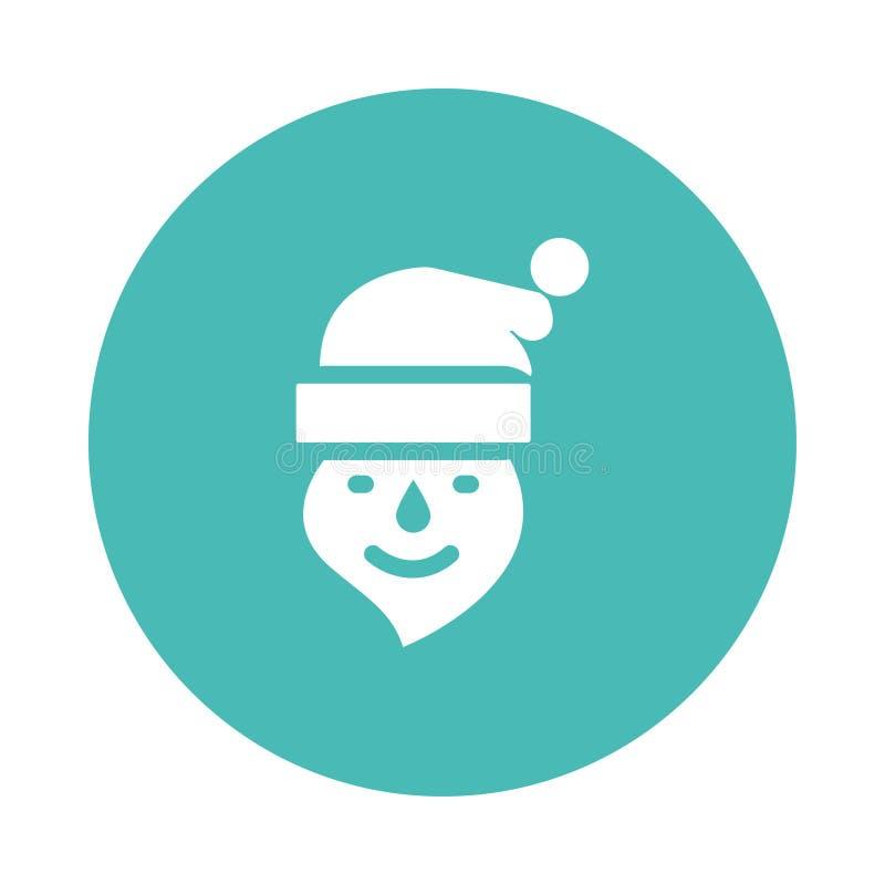 Kerstmanpictogram stock illustratie