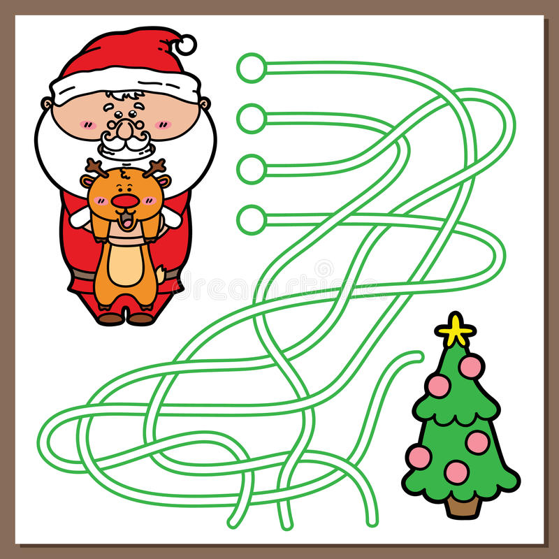 Kerstmanspel stock illustratie