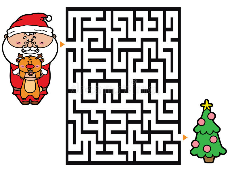 Kerstmanspel vector illustratie