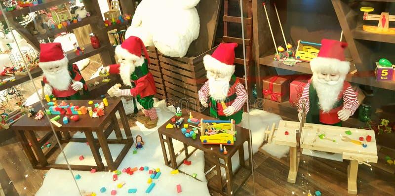 Kerstmanstuk speelgoed Workshop royalty-vrije stock foto's