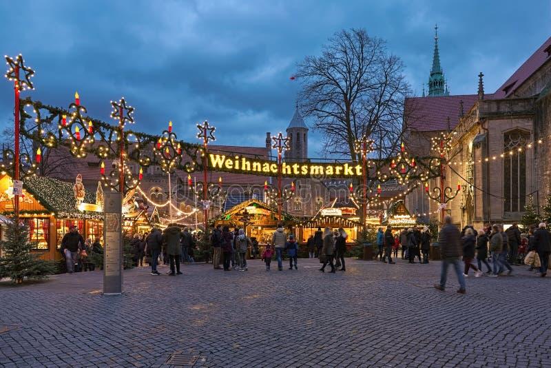 Kerstmarkt in Braunschweig, Duitsland royalty-vrije stock foto