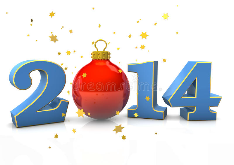 Kerstmis 2014 royalty-vrije illustratie