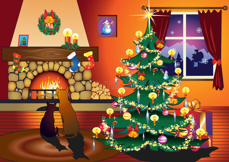 Kerstmis stock illustratie