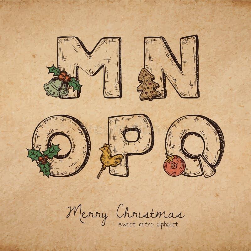 Kerstmis ABC royalty-vrije illustratie