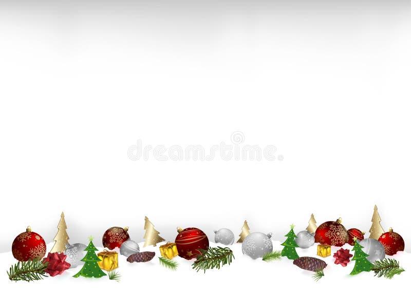 Kerstmis achtergrondillustratie met ornamenten royalty-vrije illustratie