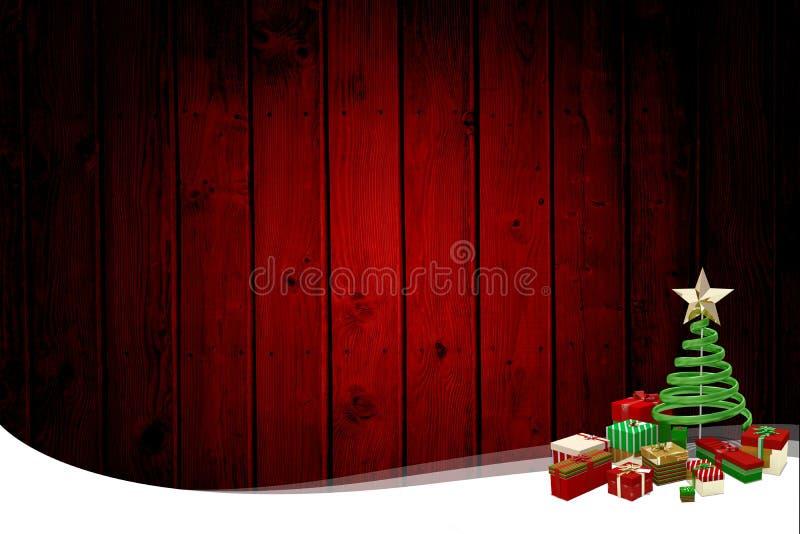 Kerstmis als thema gehad kader met boom vector illustratie