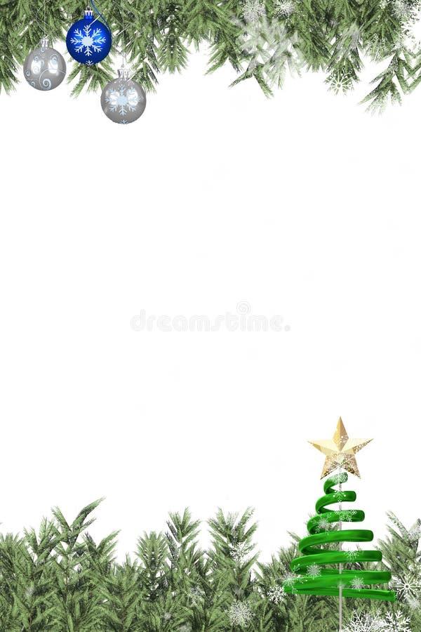 Kerstmis als thema gehad kader met decoratie stock illustratie