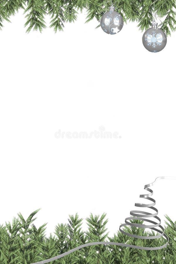 Kerstmis als thema gehad kader met decoratie vector illustratie