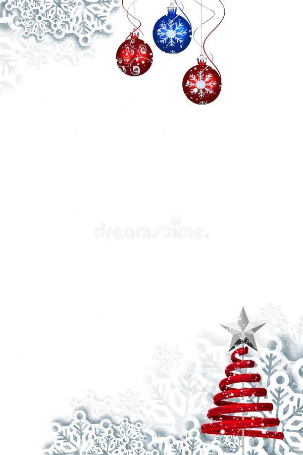 Kerstmis als thema gehad kader met decoratie royalty-vrije illustratie