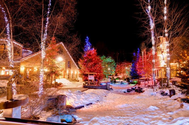 Kerstmis bij Fluiter royalty-vrije stock afbeelding