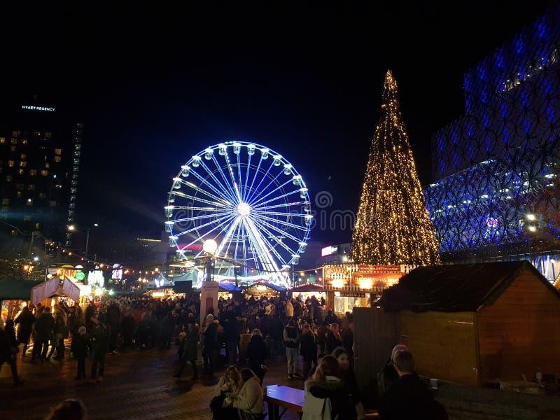 Kerstmis in Birmingham royalty-vrije stock afbeeldingen