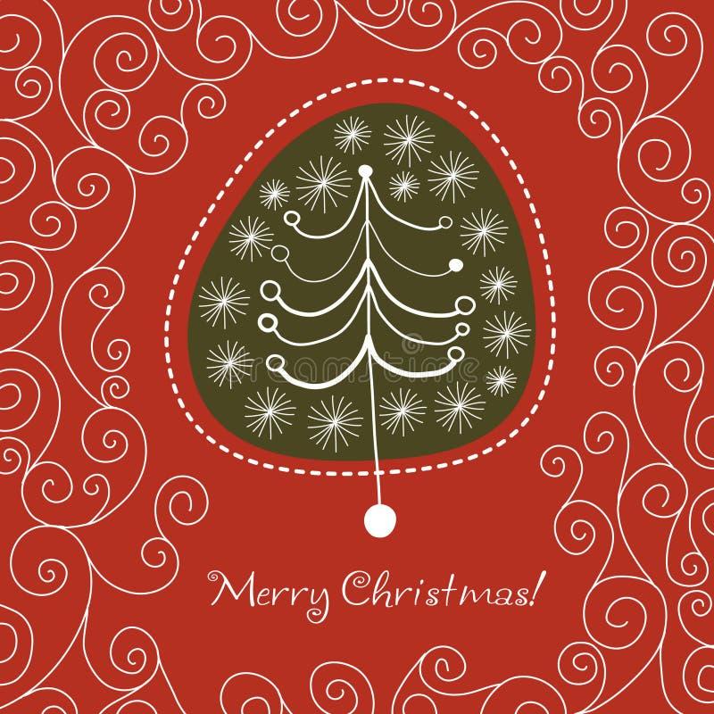 Kerstmis boom royalty-vrije illustratie