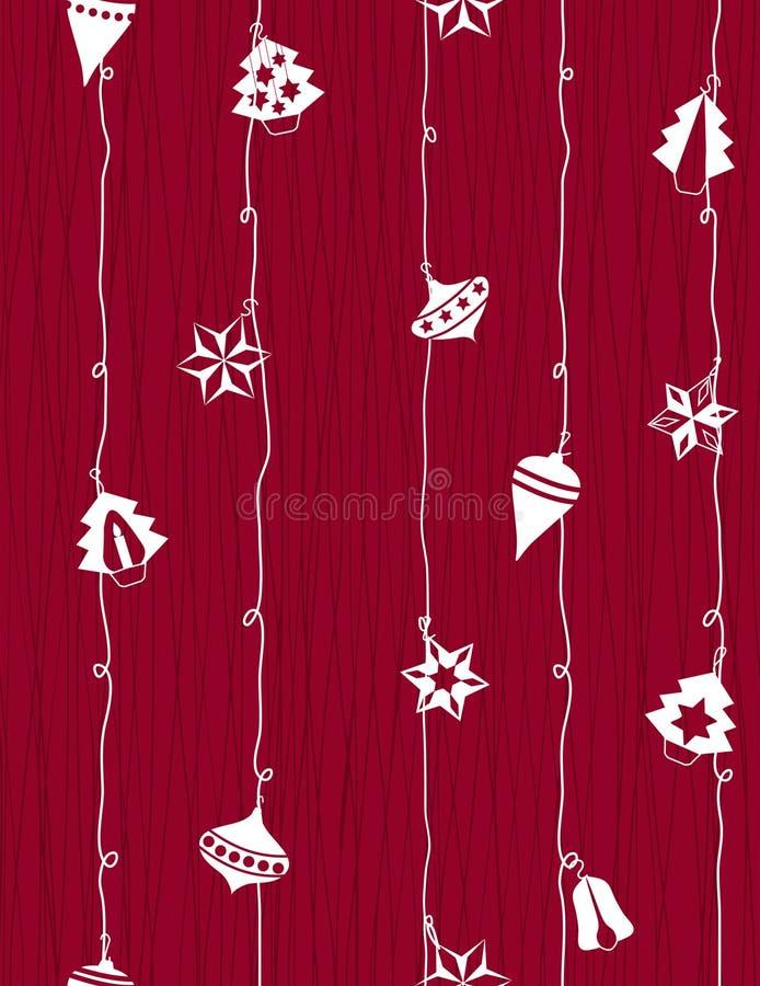 Kerstmis-boom decoratie royalty-vrije illustratie