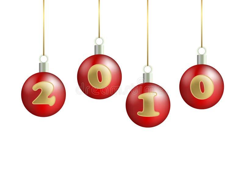 Kerstmis-boom decoratie vector illustratie