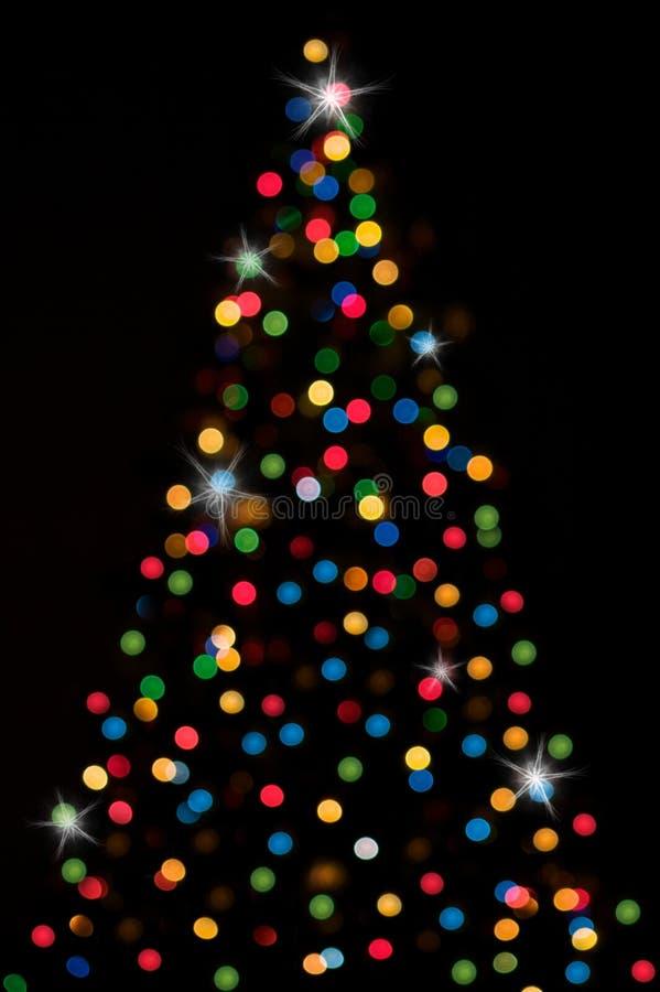 Kerstmis-boom met lichten royalty-vrije illustratie