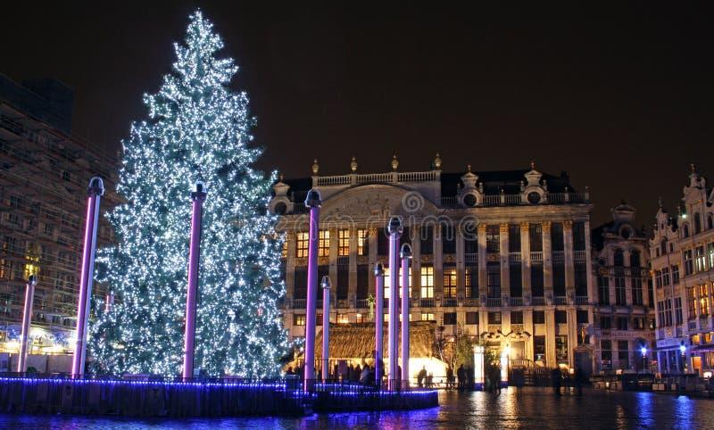 Kerstmis In Brussel (België) Redactionele Stock Afbeelding ...