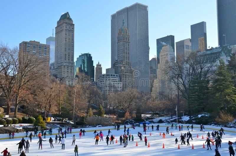 Kerstmis in Central Park, New York stock foto