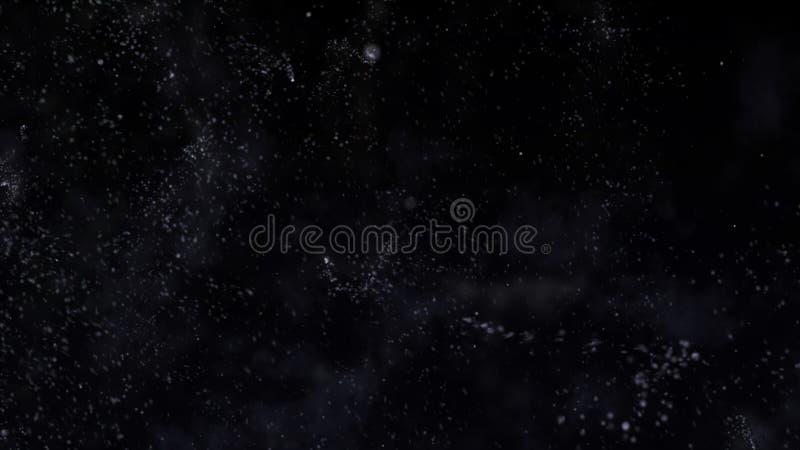 Kerstmis dalende magische sneeuw op een zwarte achtergrond De illustratie van het de winteronweer met sneeuwvlokken royalty-vrije illustratie