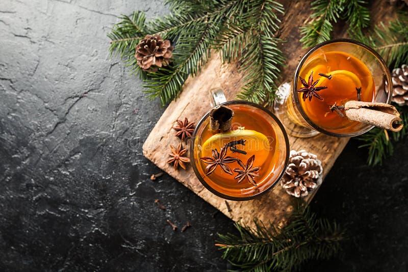 Kerstmis of Dankzeggingsdrank stock afbeeldingen
