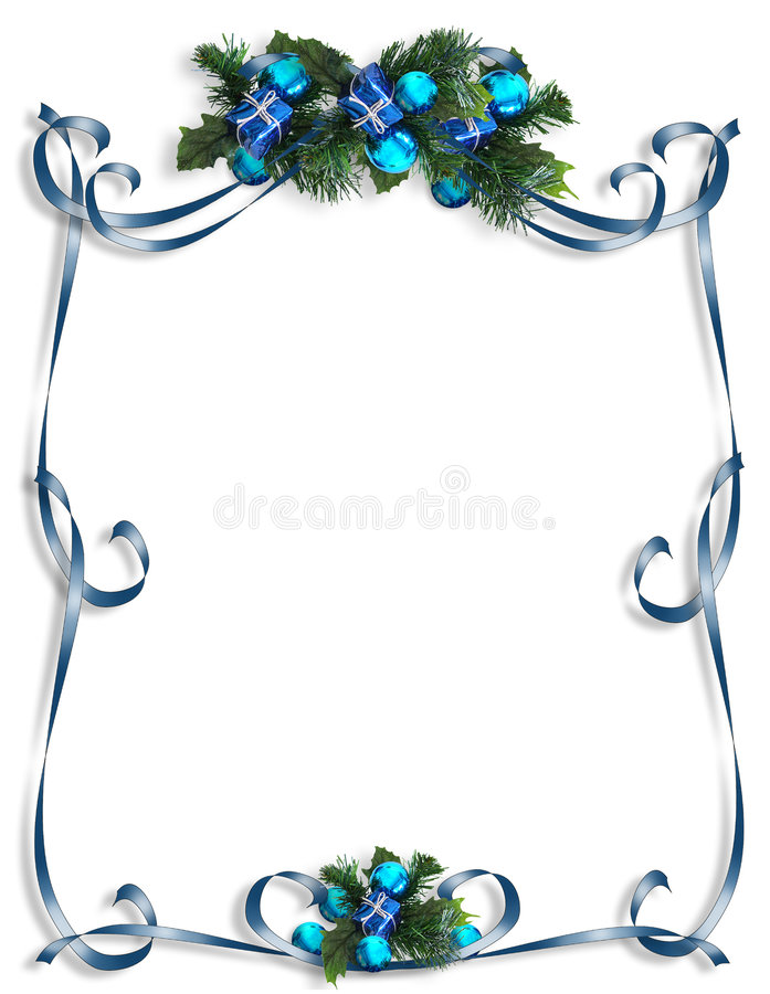 Kerstmis, de Achtergrond van de Chanoeka, grens of frame vector illustratie