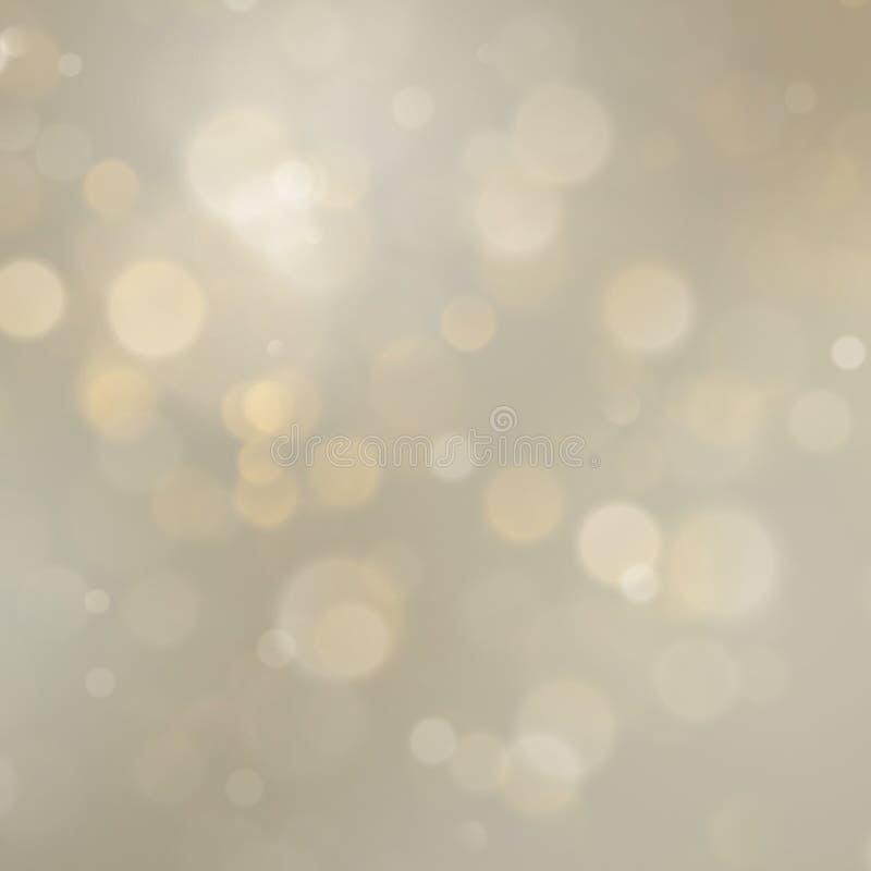 Kerstmis de gouden vakantiesamenvatting schittert defocused achtergrond met vaag bokeh Eps 10 stock illustratie