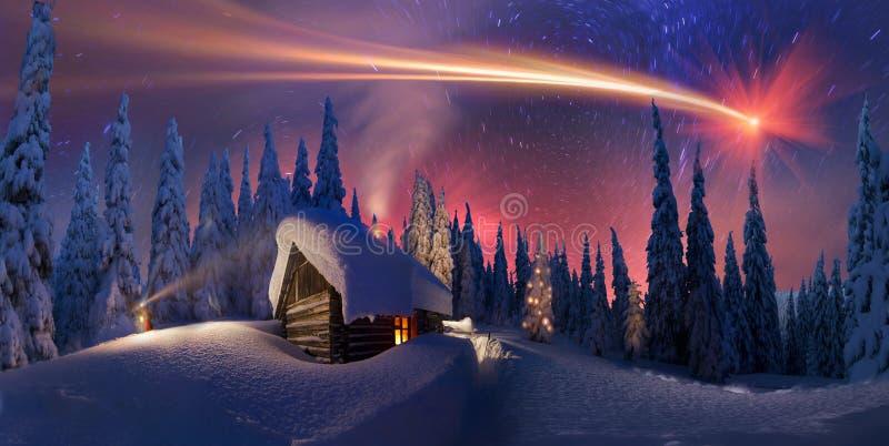Kerstmis in de Karpaten stock afbeeldingen