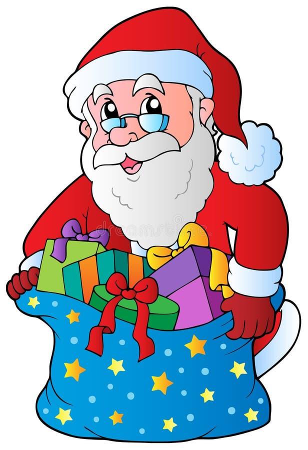 Kerstmis de Kerstman 3 stock illustratie