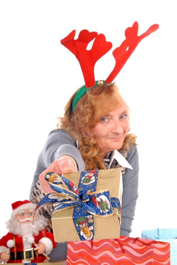 Kerstmis, de vrouw van Kerstmis stock afbeeldingen