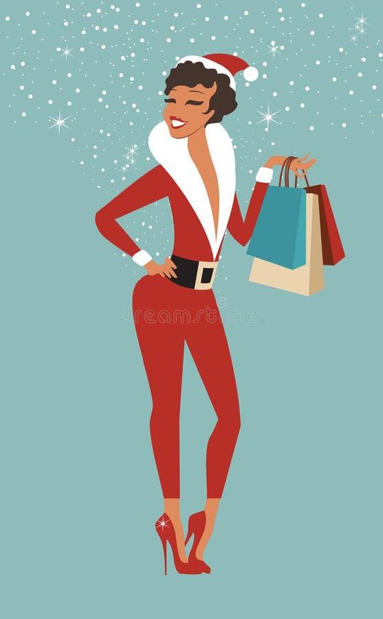Kerstmis die, idee voor uw ontwerp winkelt vector illustratie