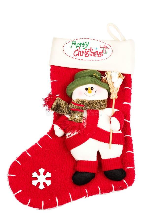 Kerstmis die met sneeuwvlok en sneeuwman opstookt royalty-vrije stock afbeelding